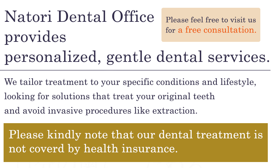 Precise aesthetic treatment sticking to your tooth