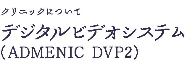 デジタルビデオシステム